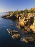 Rocks Along the Coastline in the Acadia National Park, Maine, New England, USA Reproduction photographique par Rainford Roy