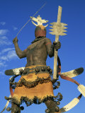 Apache Mountain Spirit Dancer, a 20Ft Bronze by Craig Dan Goseyun, Santa Fe, New Mexico, USA Photographic Print by Westwater Nedra