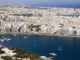 Aerial View of Sliema, Malta, Mediterranean, Europe Photographic Print by Tondini Nico
