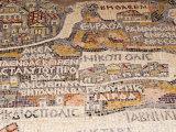 Mosaics Showing Map of Palestine, St. George Orthodox Christian Church, Madaba, Jordan, Middle East Photographic Print by Tondini Nico