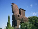 Exterior of the Replica Trojan Horse, Troy, Anatolia, Turkey Minor Photographic Print by Wilson Ken