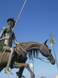 Metal Statue of Don Quixote on His Horse in Caradero, Cuba, West Indies, Caribbean, Central America Photographic Print by Richardson Rolf