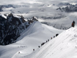 Mountaineers and Climbers, Mont Blanc Range, French Alps, France, Europe Photographic Print by Richardson Peter