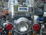 Police Harley Davidson Motorbike, New York City, New York, United States of America, North America Impressão fotográfica por Hans Peter Merten