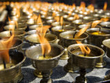 Prayer Candles, Nanwu Temple, Kangding, Sichuan, China Photographic Print by Porteous Rod