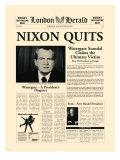 Nixon Quits Giclée-Premiumdruck von  The Vintage Collection