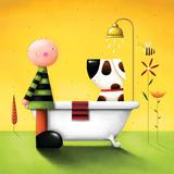 Bathtime Premium Giclee Print by Jo Parry