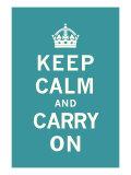 平静そして続行/Keep Calm and Carry On プレミアムジクレープリント :  The Vintage Collection