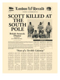 Scott Killed at the South Pole Premium Giclee-trykk av  The Vintage Collection