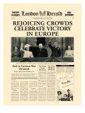 歓呼の群集が勝利を祝う プレミアムジクレープリント :  The Vintage Collection