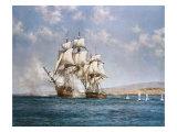 El humo de la batalla Lámina giclée prémium por Montague Dawson