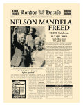 Nelson Mandela Freed Premium Giclee Print by  The Vintage Collection