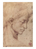 Testa Femminile di Profilo Premium Giclee Print by  Michelangelo Buonarroti
