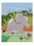 Baby Elephant Premium Giclee Print by Sophie Harding