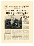 Four Minute Mile Premium Giclee-trykk av  The Vintage Collection