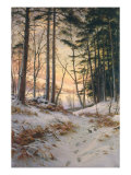 Afterglow Premium Giclee Print by Joseph Farquharson