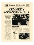 Kennedy assassiné Reproduction giclée Premium par  The Vintage Collection