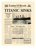 Titanic Sinks Premium Giclee-trykk av  The Vintage Collection