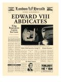 エドワードVIII世退位 プレミアムジクレープリント :  The Vintage Collection