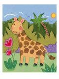 Baby Giraffe Premium Giclee Print by Sophie Harding