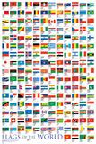 世界の旗 アートポスター