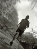 African American Male on a Training Run, New York, New York, USA Fotografisk tryk af Chris Trotman