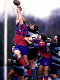Rugby Game Action Fotografie-Druck