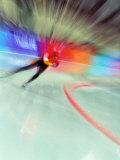 Blurred Action of Speed Skater Fotografie-Druck von Paul Sutton
