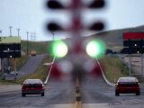 Drag Racing Starting Lights Lámina fotográfica