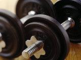 Weights Fotografisk tryk af Chris Trotman