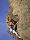 Female Rock Climber Fotografie-Druck