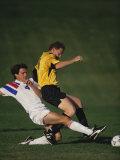 Soccer Players in Action Fotografisk trykk