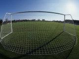 View of Soccer Field Through Goal Fotografie-Druck von Steven Sutton