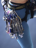 Detail of Female Rock Climber and Equipment Fotografie-Druck
