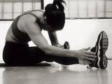 Woman Stretching During a Workout, New York, New York, USA Fotografisk trykk av Paul Sutton
