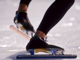 Detail of Speed Skater,S Feet at the Start, Inzell Photographic Print by Chris Cole