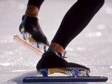 Detail of Speed Skater,S Feet at the Start, Inzell Lámina fotográfica por Chris Cole