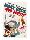 Go West, Groucho Marx, Harpo Marx, Chico Marx, Diana Lewis, 1940 Fotografía