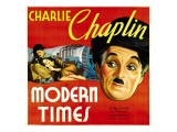Modern Times, Charlie Chaplin, Paulette Goddard, Charlie Chaplin, 1936 Photo
