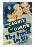 The Irish in Us, Pat O'Brien, Olivia De Havilland, James Cagney on Window Card, 1935 Photo