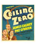 Ceiling Zero, Pat O'Brien, James Cagney, June Travis on Window Card, 1936 Photo