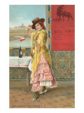 La mode française, danseuse de flamenco Reproduction giclée Premium