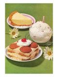 Fifties Desserts Kunstdrucke