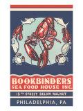 Lobsters Advertisement Lámina giclée prémium