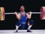 Weightlifter in Action Fotografie-Druck
