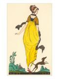 European Fashion, Whippet, 1800 Reproduction giclée Premium