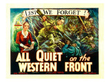 All Quiet on the Western Front, Poster Art, 1930 Foto
