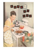 Food is Fun, Cooking on Stove Top Posters