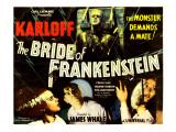 The Bride of Frankenstein, Boris Karloff, Elsa Lanchester, Colin Clive, Valerie Hobson, 1935 Photo
