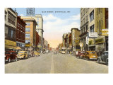 Main Street, Evansville, Indiana Poster